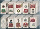 PLAYERS-FULL SET- BADGES & FLAGS OF BRITISH REGIMENTS (GREEN BACK) - EXC