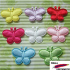 "(U Pick) Wholesale 40-480 Pcs. 1"" Padded Satin Butterfly Appliques B0940"