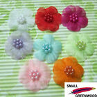 "(U Pick) Wholesale 40-200 Pcs 1-3/8"" Organza Flower With Beads Appliques F8600"