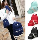 Women bag Backpack Girl Shoulder Bag Rucksack Canvas Travel School bag 1 Set New