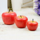 Christmas Red Apple Shape Fruit Scented Candle Home Decoration Greet Gift 3 Size