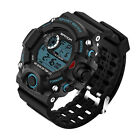 Mens LED Digital Date Alarm Waterproof Sports Military Army Quartz Wrist Watch