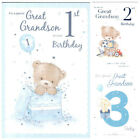 Great Grandson 1st 2nd or 3rd Birthday Card Lovely Verse - Good Quality CG