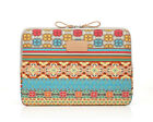 US Kayond Bohemian Canvas Laptop Notebook Macbook Air Pro Sleeve Case Bag Cover