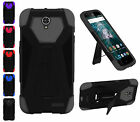 For ZTE Warp 7 Grand X 3 N9519 Premium Hybrid Dual Layer T Kickstand Cover Case