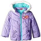 Paw Patrol Toddler Girls Purple Puffer Coat Size 2T 3T 4T 5T