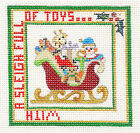 """NEW Strictly Christmas """"A Sleigh Full of Toys"""" handpainted Needlepoint Canvas"""