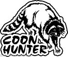 Adesivo Sticker COON HUNTER Style auto moto tuning racing sport gp musicDECO
