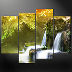 WATERFALL SUNRAYS CASCADE CANVAS PRINT MODERN DESIGN READY TO HANG