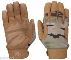 military mechanics gloves synthetic leather multicam camo rothco 4434