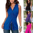 New Women Sleeveless Summer Vest Top Blouse Casual Tank Tops T-Shirt Blouse S-XL
