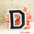 Alphabet Letter A-Z Embroidered Iron On Patch Sew Motif DIY Applique Accessories