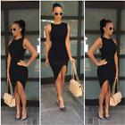 Women Summer Short Slim Mini Dress Cocktail Party Evening Bodycon Sleeveless