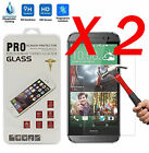 2 X Tempered 9H Glass Screen Film Protector for HTC ONE M7 M8 M9 M10 Desire 626