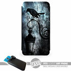 UNIVERSAL FIT Printed Phone Case Cover : Goth Raven Lamp : Burton Emo Punk Crow