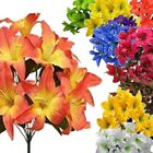 22 inch Silk Tiger Lily Bush Artificial Flowers Plants Arrangements Wedding