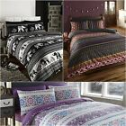 Indian Moroccan Arabic Ethnic Print Duvet Quilt Cover Bedding Set
