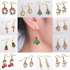 Fashion Women Handmade Christmas Xmas Gift Gold Hook Ear Stud Earrings Jewellery