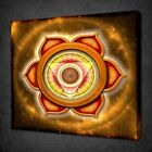 SACRAL CHAKRA ORANGE HINDU DESIGN PICTURE CANVAS WALL ART PRINT READY TO HANG