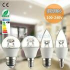New E14 E27 C37 G45 P45 5W 400-420lm 6000K COB LED Light Candle Lamp Bulb Decor