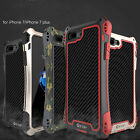 R-JUST Shockproof Metal Aluminum Gorilla Glass Case Cover for iPhone 7 & 7 Plus