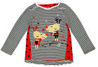 Girls Christmas Reindeer Stripe Love Hearts Long Sleeve Cotton Top 1 to 3 Years