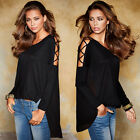Women Casual Tops New T-Shirt Loose Fashion Blouse Cotton Blouse Long Sleeve LZ