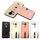 New Slim Thin Mirror Case Metal Frame Acrylic PC Back Cover Case For LG Nexus 5X
