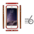 High Quality Metal wood Frame Case RONIN Rosewood for iPhone 6 6s 6 Plus Phone