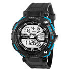 New Men LED Digital Date Alarm Waterproof Rubber Sport Army Watch Wristwatch ss2