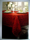 Red or Cream Holly Matelasse' Tablecloth and 8 Napkin Set