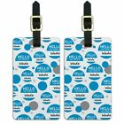 Luggage Suitcase Carry-On ID Tags Set of 2 Hello My Name Is Wa-Wy
