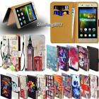 Leather Stand Flip Wallet Cover Phone Case For Huawei Honor 4/5/6/8 Model Phones