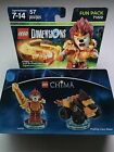 BNIP LEGO 71222 DIMENSIONS CHIMA LAVAL & MIGHTY LION RIDER-57 PCS!!!