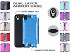 For LG Tribute HD LS676 Combat Metal Brushed Design Hybrid Cover Case