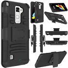 Shockproof Hybrid Armor Holster Belt Clip Case Cover for LG Stylo 2 V / VS835