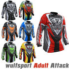 Wulfsport 2017 Attack Adult Motocross Shirts Motorbike Jersey FULL COLORS