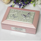 70th Birthday Pink Butterfly Jewel Box - Add a Name & Message