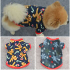 Christmas Pet Puppy Dog Cotton Coat Clothes Apparel Pullover Shirt Sweater XS-L