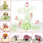 Greeting Cards Handmade Invitation 3D Pop Up Card Flower New Birthday Wedding
