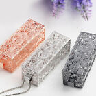 """1X Women Necklace Hollow Out """"LOVE"""" Letters Cuboid Floating Locket Pendant"""