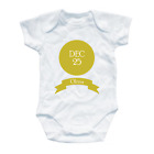 Personalised Chirstmas Baby Grow Gift First All One Toddler Onesie Xmas Date VEX