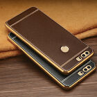 US Luxury Shockproof TPU Soft PU Leather Bunmper Case Cover For Huawei Phones