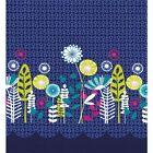 Michael Miller Posey Border Midnight Panel 100% Cotton FQ Half or Meter FREEPOST