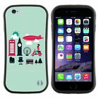 Anti-Shock Tpu Case Bumper Cover For Apple iPhone London Vector Graphics Set