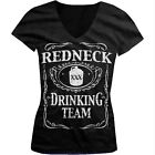 Redneck Drinking Team Alcohol Drunk Southern South Pride Juniors V-neck T-shirt