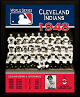 "CLEVELAND INDIANS 1948 World Series Champions Commemorative 8x10"" Plaque on Ebay"