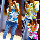 Hot Women's Floral Long Sleeve Shirt Casual T-Shirt Pullover Casual Tops Blouse