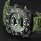 INFANTRY Mens LCD Digital Quartz Wrist Watch Sport Army Camo Chronograph Aviator