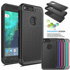 PC Shockproof Hybrid Rugged Rubber Hard Case Cover For Google Pixel / Pixel XL